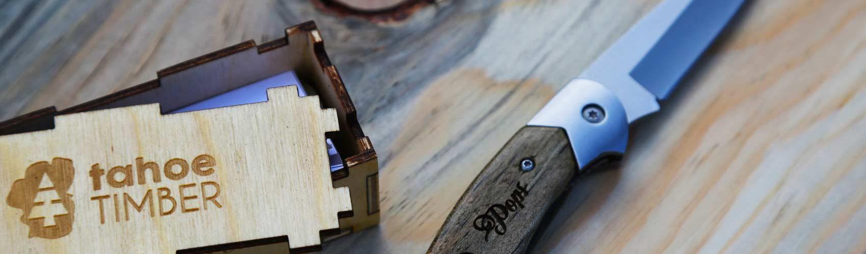 Custom Wooden Pocket Knife